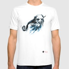Oni Skull Mens Fitted Tee SMALL White