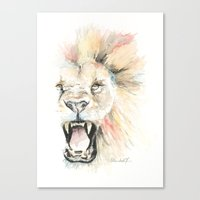 Savage Lion Canvas Print