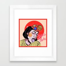 Space Babe Framed Art Print