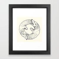 Dog Eat Dog Framed Art Print