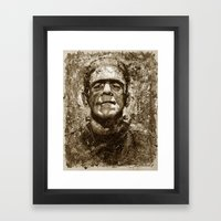 The Creature - Sepia Ver… Framed Art Print