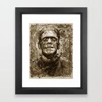 The Creature - Sepia Ver… Framed Art Print