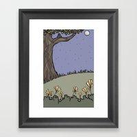 Night Tree Framed Art Print