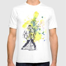 Elvis Presley Dancing White Mens Fitted Tee SMALL