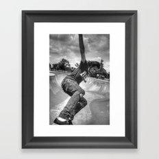 The Skater In The Bowl Framed Art Print