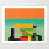 Vertical Stacks Art Print