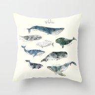 Whales Throw Pillow