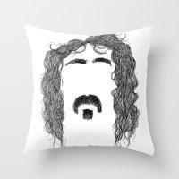 Frank Zappa Throw Pillow
