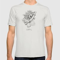 Swing Mens Fitted Tee Silver SMALL