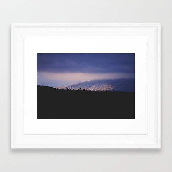 Bleak Mountain #2 Framed Art Print