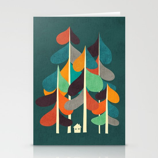 Cabin in the woods Stationery Card