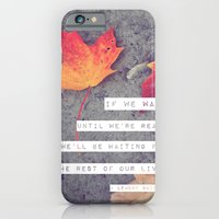 iPhone & iPod Case featuring don't wait. by lissalaine