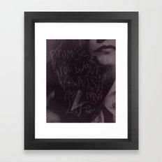 Promise me.... Framed Art Print