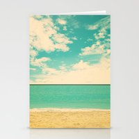 Retro Beach Stationery Cards