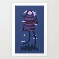 Strollin Art Print
