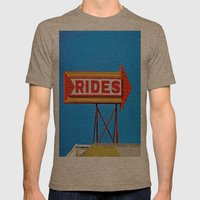 Let's Ride Mens Fitted Tee Tri-Coffee SMALL
