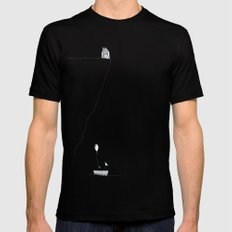 CLIFF SIDE Black Mens Fitted Tee SMALL