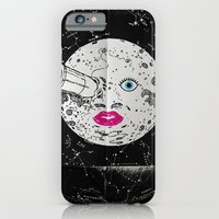 iPhone & iPod Case featuring A trip of the moon Minimal Poster Cinema. by afrancesado