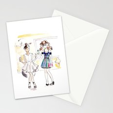 friends + ice cream  Stationery Cards