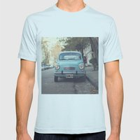 Mint - Blue Retro Fiat C… Mens Fitted Tee Light Blue SMALL
