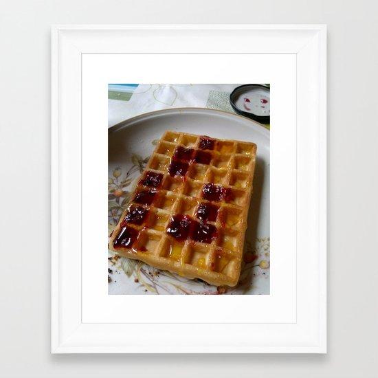 Waffles & Tetrimino Jam Framed Art Print