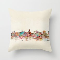 Madison Wisconsin Skylin… Throw Pillow
