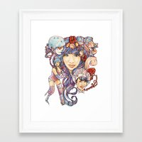 Pintsizevillan portrait Framed Art Print