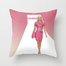 MOSCHINO RUNWAY BARBIE GIRL Throw Pillow
