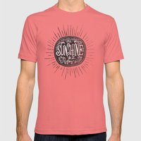 YOU ARE MY SUNSHINE Mens Fitted Tee Pomegranate SMALL
