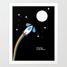 A Rocket to the Moon Art Print