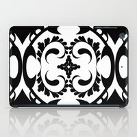 Black white tribal pattern iPad Case