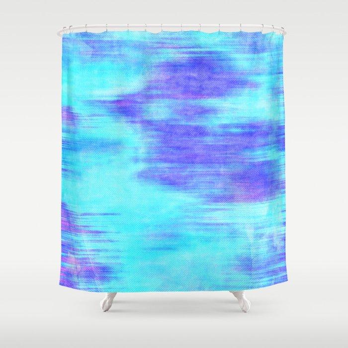 ocean blur abstract in mint purple royal blue shower