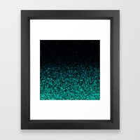 Mint Sparkle Framed Art Print