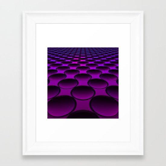 Purple Dimples Framed Art Print