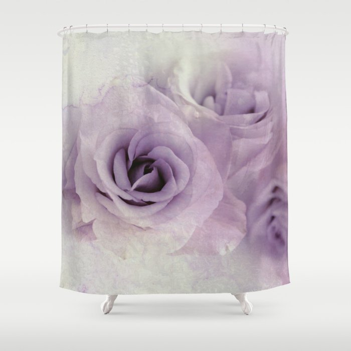 wet purple rose Shower Curtain by Clemm | Society6