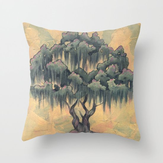 Crepe Myrtle Tree in Bloom Throw Pillow