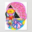 Psychedelic Wrestler Canvas Print