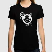 WHITE - Type Face Womens Fitted Tee Black SMALL