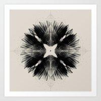 Black Flower Art Print