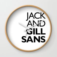 Jack and Gill Sans Wall Clock