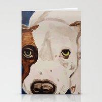 Pit Bull Portrait Stationery Cards