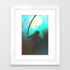 Space Boots Framed Art Print
