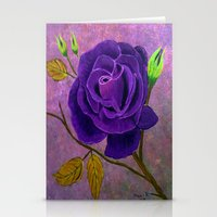 Purple Rose  Stationery Cards