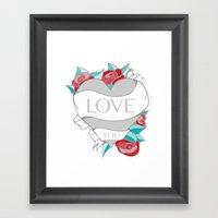 Love- Heart Tattoo Framed Art Print