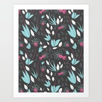Nighttime Dandelions Art Print