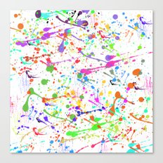 Paint Splatter 2 - White Canvas Print
