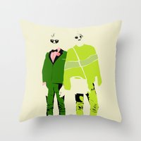 hipsters Throw Pillow