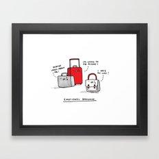 Emotional Baggage Framed Art Print