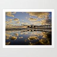 HB Sunsets   11/25/15  ~… Art Print