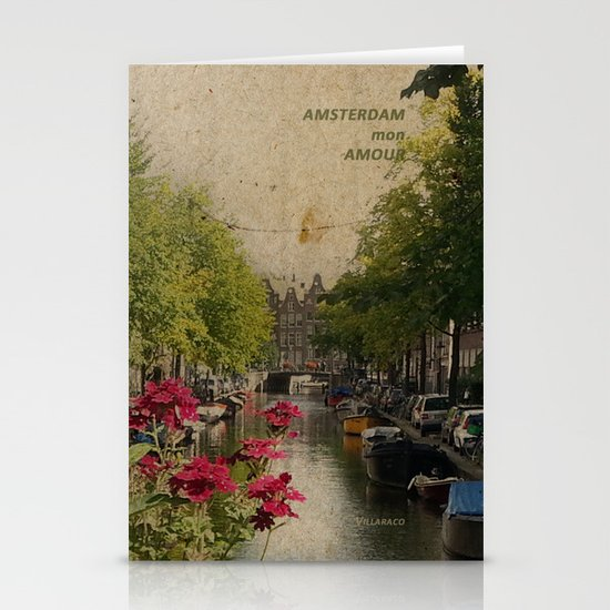 Amsterdam mon amour Stationery Card